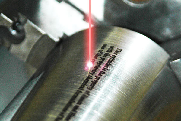 Laser Rotary Engraving of Bar Codes and Sequential Serial Numbers